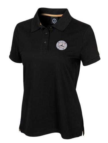Mercedes-Benz Classic Poloshirt Damen schwarz