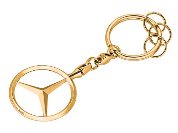 Mercedes-Benz Schlüsselanhänger Brüssel goldfarben