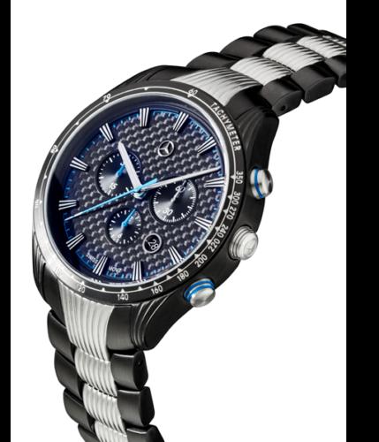 Original Mercedes-Benz Chronograph Herren Motorsport blau-schwarz-silber B67995426