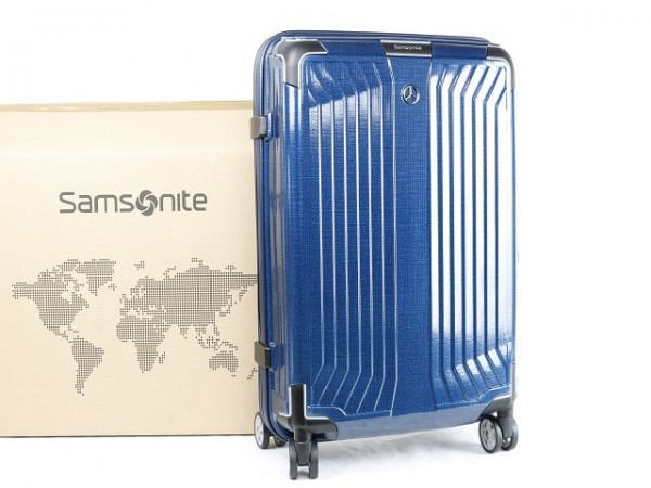 Mercedes-Benz Koffer Litebox Spinner 55 Samsonite Denimblau