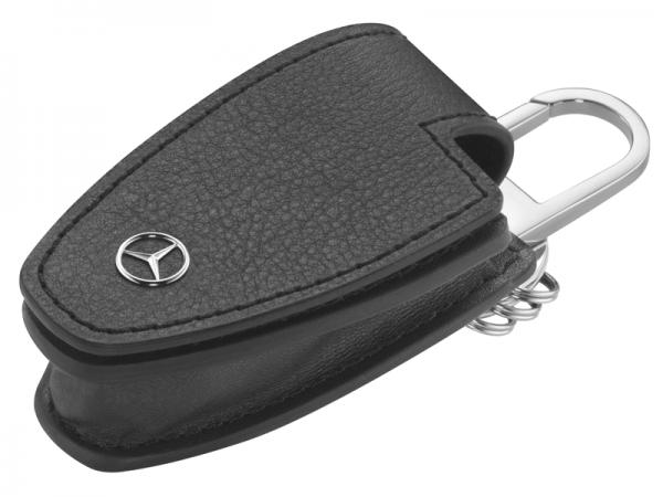 Mercedes-Benz Schlüsseletui schwarz Rindsleder