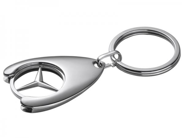 3x Schlüsselanhänger mit Einkaufschip