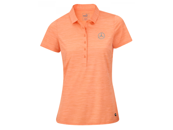Mercedes-Benz Golf-Poloshirt Damen Orange