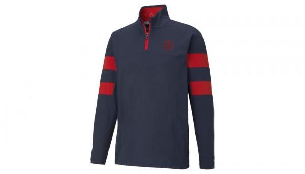 Mercedes-Benz Golf-Sweater Herren navy/rot