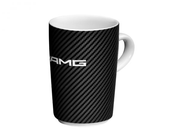Mercedes-AMG Kaffeebecher weiß/schwarz Chromoptik