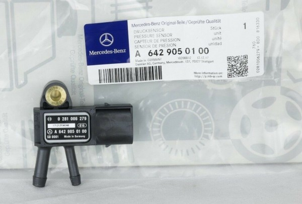 Mercedes-Benz Differenzdrucksensor Abgassensor Motor CDI A6429050100