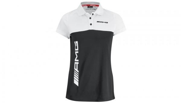 Mercedes-AMG Poloshirt Damen schwarz/weiß