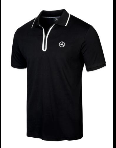 Mercedes-Benz Poloshirt Herren schwarz/weiß