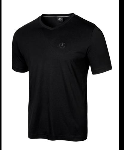 Mercedes-Benz T-Shirt Herren Mercedes Stern Logo schwarz
