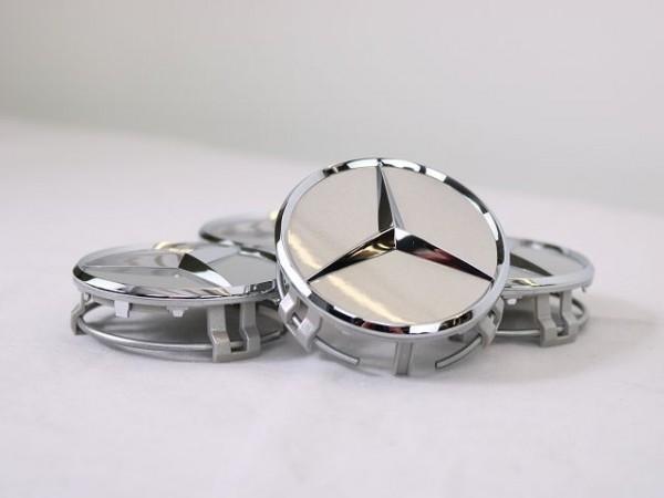 Mercedes-Benz Nabendeckel Titansilber Chrom