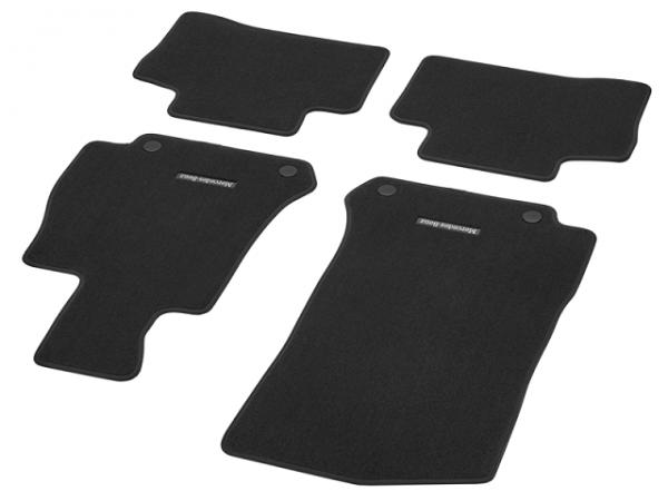 Mercedes-Benz Fußmatten Velours GLC W253 X253 4-tlg. Rechtslenker schwarz A25368001489J74