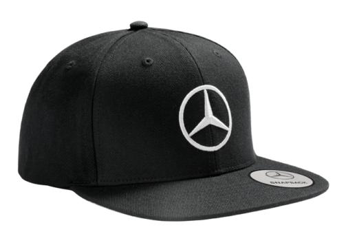 Mercedes-Benz Flat Brim Base Cap Herren schwarz