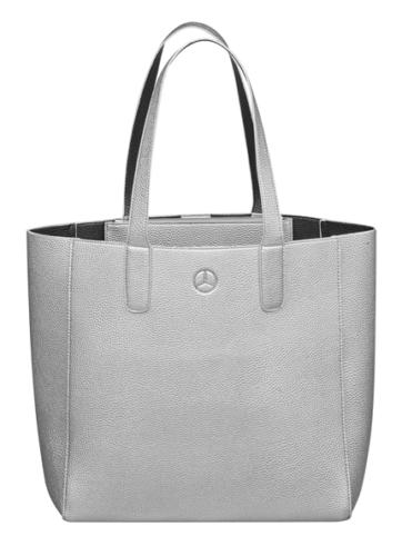 Mercedes-Benz Einkaufstasche Kunstleder silber