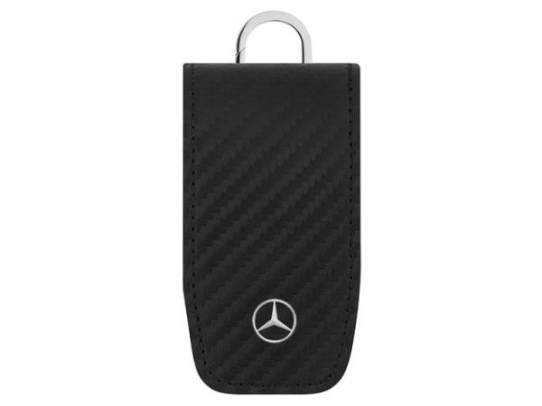 Mercedes-Benz Schlüsseletui schwarz Leder