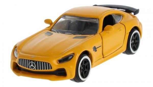 Mercedes-Benz Spielzeugauto GT R C190 solarbeam gelb 1:64