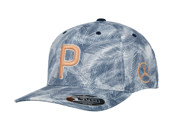 Mercedes-Benz Golf Cap Palmenmuster blau/orange unisex