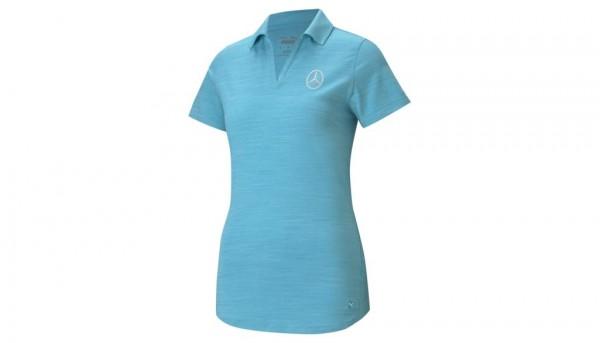 Mercedes-Benz Golf-Poloshirt türkis Damen