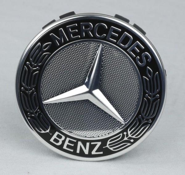 Mercedes-Benz Nabendeckel Stern Lorbeerkranz schwarz