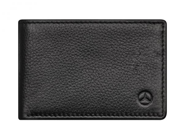 Mercedes-Benz Minigeldbörse Herren schwarz Rindleder