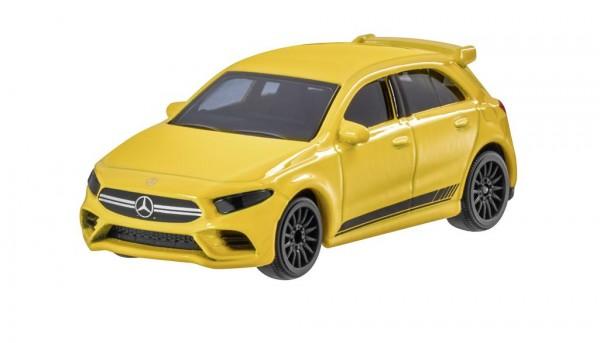 Mercedes-Benz Spielzeugauto A 35, 4MATIC+ sonnengelb 1:64