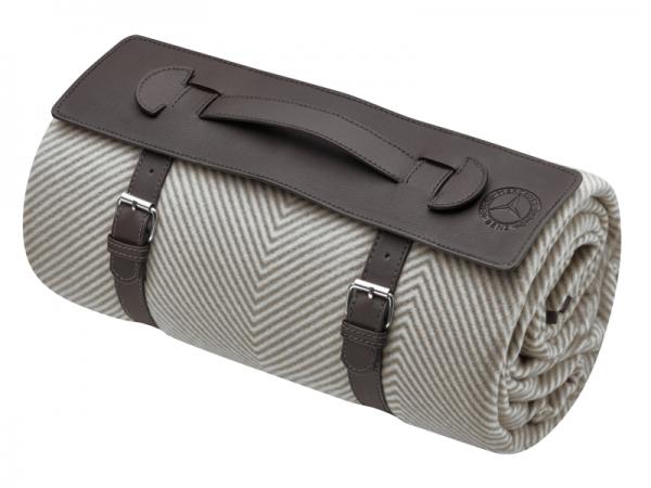 Mercedes-Benz Picknickdecke Classic braun/elfenbein