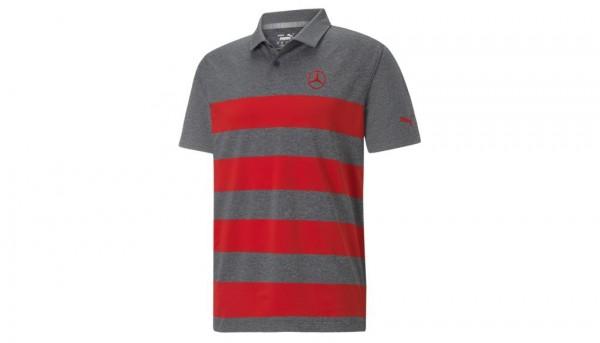 Mercedes-Benz Golf-Poloshirt Herren grau/rot