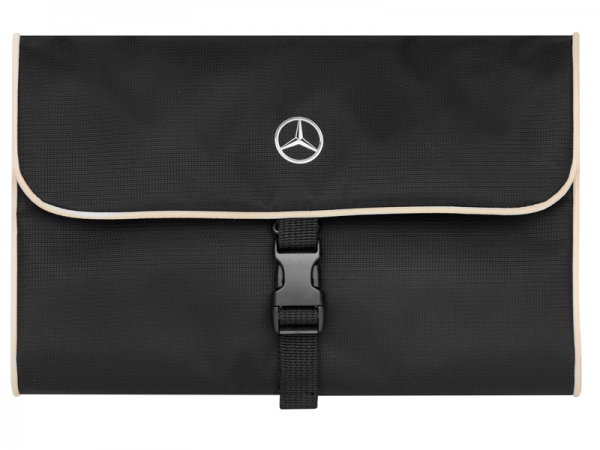 Mercedes-Benz Kulturbeutel schwarz/beige