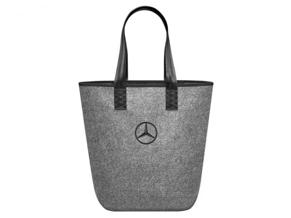 Mercedes-Benz Einkaufstasche grau Filz