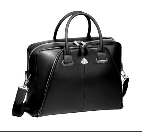 Mercedes-Maybach Businesstasche Damen schwarz Kalbsleder