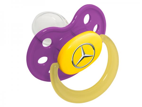 Mercedes-Benz Baby Schnuller lila Babynova Größe1