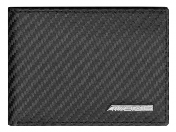 Mercedes-AMG Minigeldbörse schwarz Carbonleder