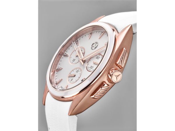 Mercedes-Benz Chronograph Damen Sport Fashion weiß/roségold