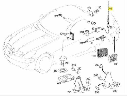 Mercedes-Benz Antenne für Antennenmast Radio A171820007564