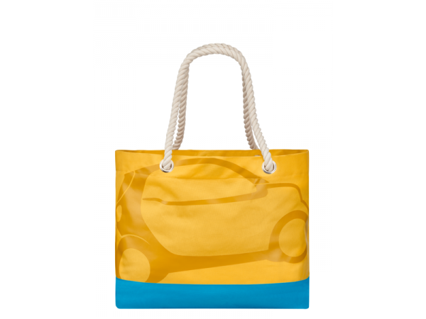 smart Strandtasche orange/türkis (50 x 40 x 20 cm)