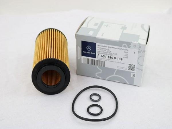 Mercedes-Benz Ölfilter mit Dichtringen für CDI Motor M651 A6511800109