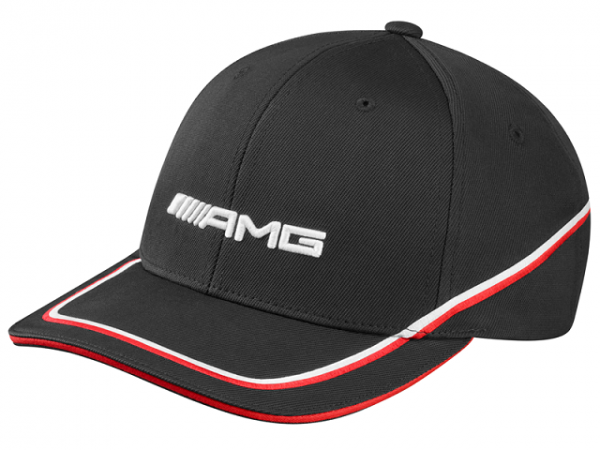 Mercedes-AMG Base Cap Flexfit Herren schwarz-rot