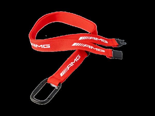 Mercedes-AMG Schlüsselband Lanyard rot/weiß