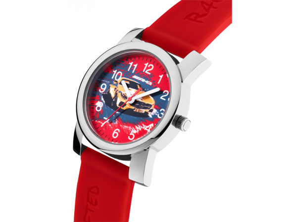 Mercedes-AMG GT Armbanduhr Kinder rot-silber