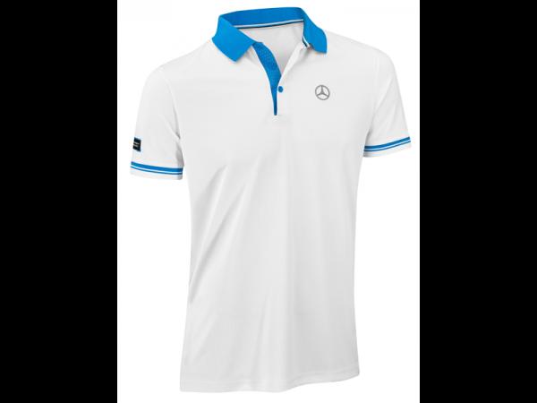 Mercedes-Benz Poloshirt Herren weiß/blau