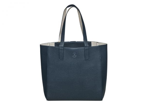 Mercedes-Benz Einkaufstasche Kunstleder blau