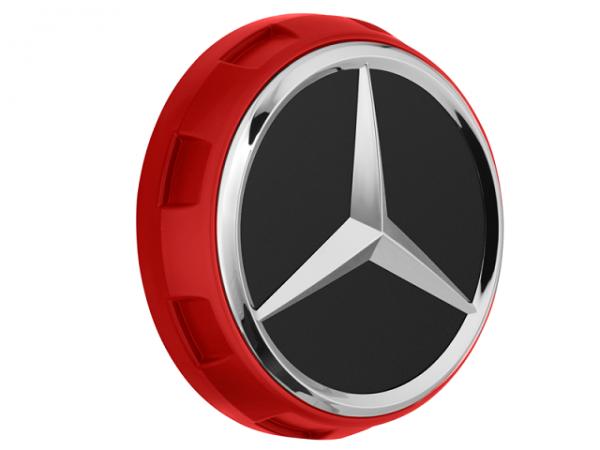 Original Mercedes-AMG Nabendeckel im Zentralverschlussdesign rot A00040009003594