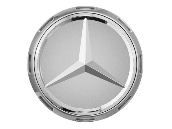 Original Mercedes-AMG Nabendeckel im Zentralverschlussdesign silber A00040009009790