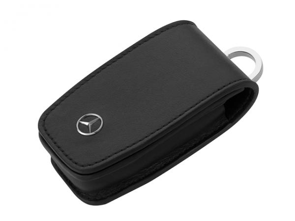 Mercedes-Benz Schlüsseletui 6.Generation Rindleder schwarz