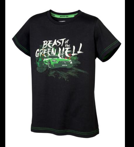 Mercedes-AMG T-Shirt Jungen schwarz/grün