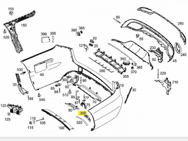 Original Mercedes-Benz Radlaufverbreiterung links A2058803524