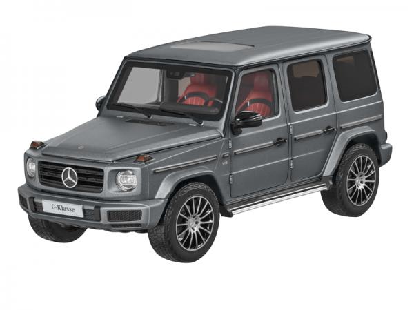 Mercedes-Benz G-Klasse 1:18 Modell platin magno