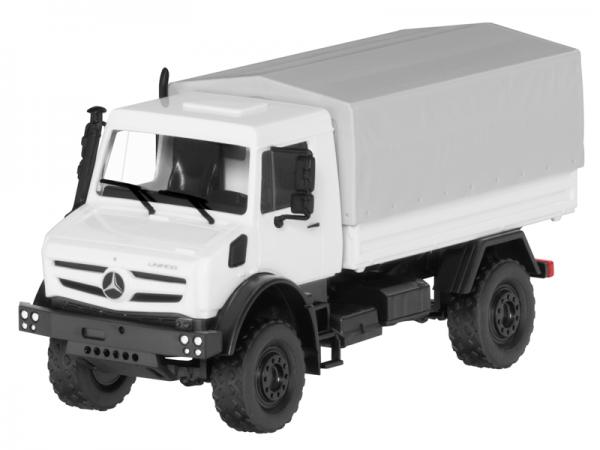 Mercedes-Benz LKW Unimog U5023 Modellauto weiß BUSCH