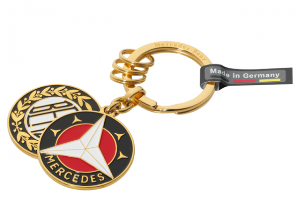 Original Mercedes-Benz Schlüsselanhänger Sindelfingen goldfarben B66041523
