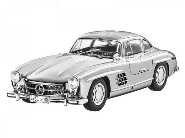 Mercedes-Benz 300 SL Coupé W198 (1954-1957) verchromt 1:18