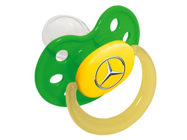Mercedes-Benz Baby Schnuller grün Babynova Größe1
